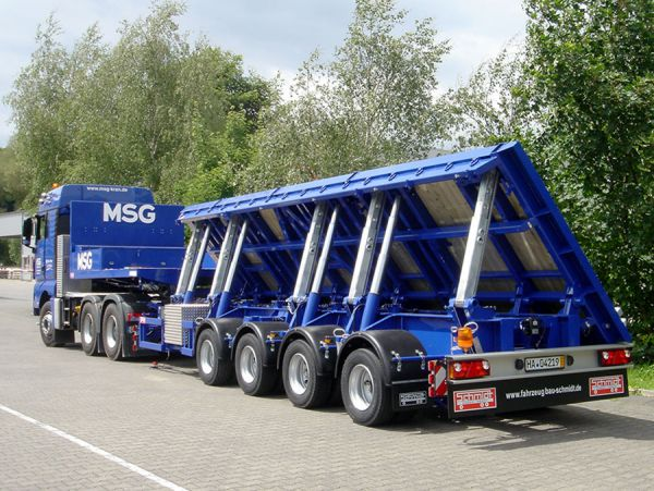 special sloping case saddle semitrailer